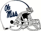 NCAA-SEC-Ole Miss Rebels White Helmet-Navy Blue logo