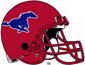 NCAA-AAC-SMU Mustangs Red helmet