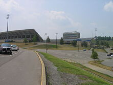 Mountaineer Field exterior