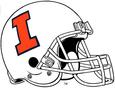 NCAA-Big 10-Illinois Fighting Illini White helmet w. facemask