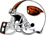 NCAA-PAC12-Oregon State Beavers helmet-white-3color facemask-right side