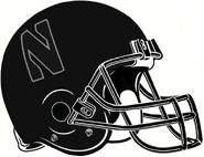 NCAA-Big 10-Northwestern Wildcats Black Helmet