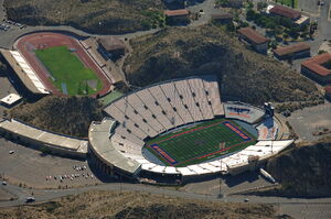 UTEP Sun Bowl Stadium Aerial View Sept 6 2009