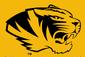 NCAA-SEC-Mizzou Tigers Black & Gold helmet mascot logo