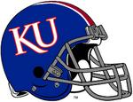NCAA-Big 12-Kansas Jayhawks Blue striped helmet
