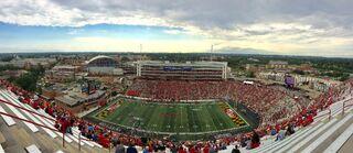 Pano of Maryland Stadium