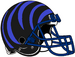 NCAA-AAC-Memphis Tigers Black blue bengal Striped helmet