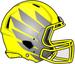 NCAA-Pac-12-Oregon Ducks 2018 Yellow-Silver Helmet