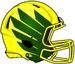 NCAA-Pac-12-Oregon Ducks 2018 Yellow-Green Helmet