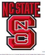 NC State Wolfpack Wordmark and helmet logo 2006-present
