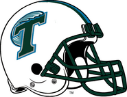NCAA-AAC-Tulane Green Wave White helmet