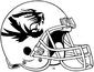 NCAA-SEC-Mizzou Tigers White large black mascotlogo helmet