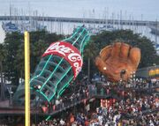 AT&T Park - Coke bottle and glove
