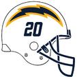 2020 LA-chargers-navy blue-logo-alt-helmet-logo-clipart