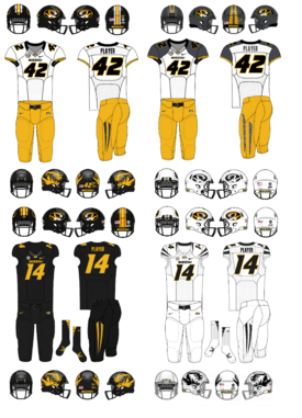 NCAA-SEC-Mizzou Tigers Uniforms