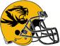 NCAA-SEC-Mizzou Tigers White large Gold mascotlogo helmet