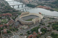 Neyland and downtown aerial