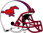NCAA-AAC-SMU Mustangs White helmet
