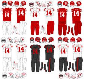 NCAA-AAC-Houston Cougars Uniforms