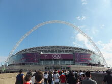Wembley Stadium during London 2012 Olympic Games