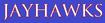 NCAA-Big 12-Kansas Jayhawks Teamname Script-blue background