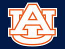 Auburn Tigers Alternate White Orange-White trim AU Logo