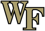 NCAA-ACC-Wake Forest Demon Deacons gold black trim logo