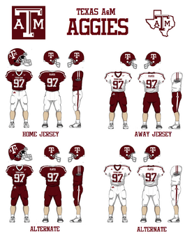 SEC-Uniform-Texas A&M-Adidas Jerseys