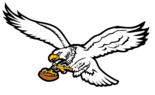 NFL-NFC-1987-95 PHI white eagle Mascot Logo