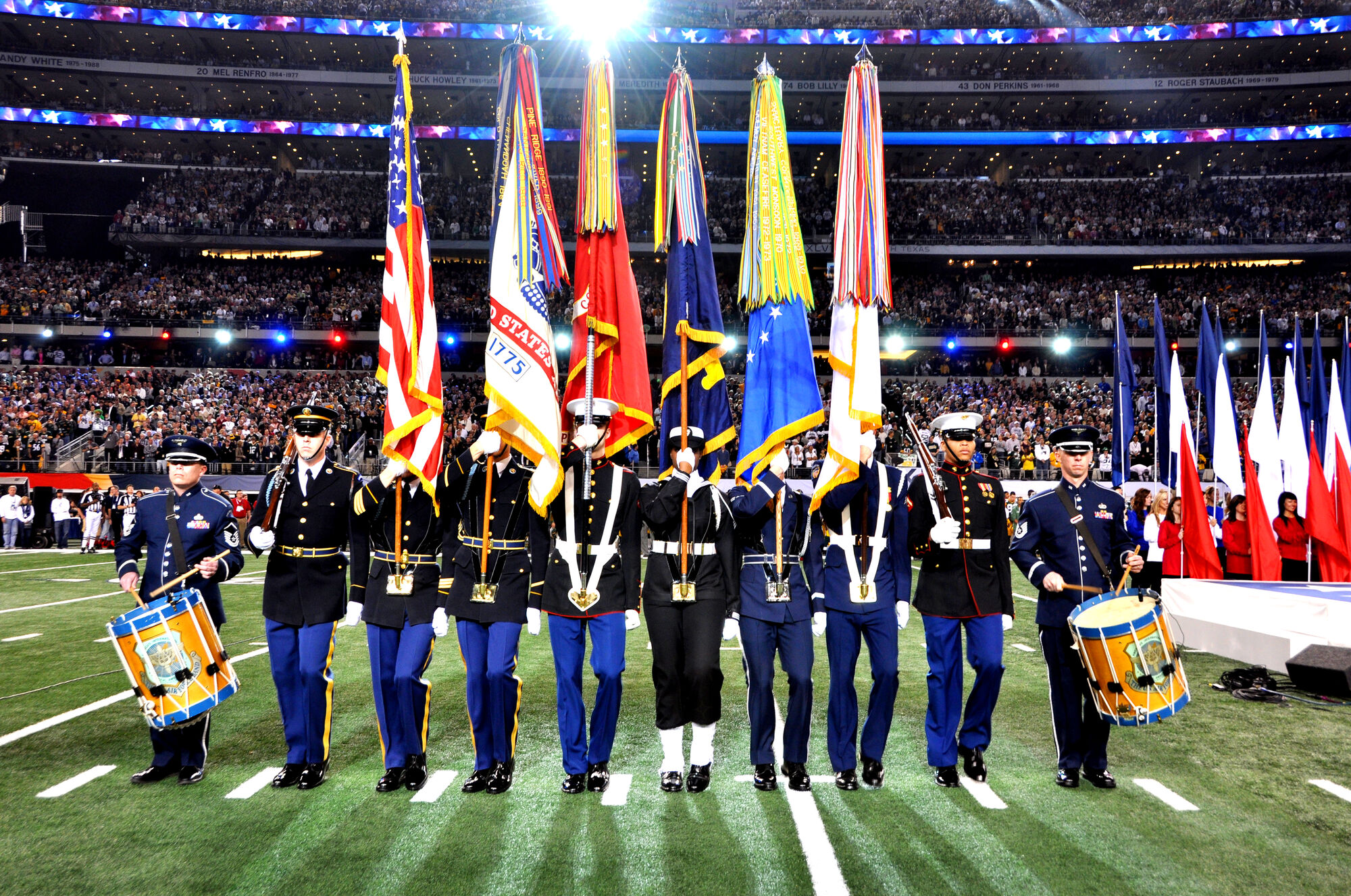 Image Armed Forces Color Guard At Super Bowl Xlv 1 Jpg