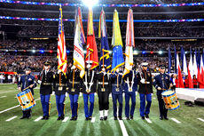Armed Forces Color Guard at Super Bowl XLV 1