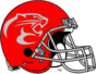 NCAA-AAC-Houston Cougars Red Alternate Helmet-Mascot logo