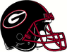 NCAA-SEC-Georgia Bulldogs Black helmet red facemask