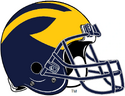 NCAA-Big 10-Michigan Wolverines Helmet