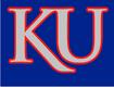 NCAA-Big 12-Kansas Jayhawks Blue background KU silver logo
