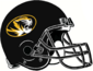 NCAA-SEC-Mizzou Tigers All-Black helmet w. facemask