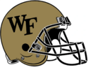 NCAA-ACC-Wake forest gold helmet