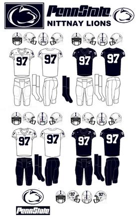 NCAA-Big 10-Penn State-Nittnay Lions Jerseys