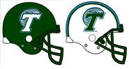 NCAA-Tulane Green Wave-Helmets