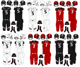 NCAA-AAC-Cincinnati Bearcats Uniforms 2019