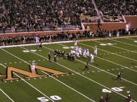 2006 Virginia Tech at Wake Forest lined up