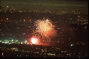 Fireworks over the Rose Bowl 20140704