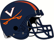 NCAA-ACC-2001-2018 Virginia Cavs helmet