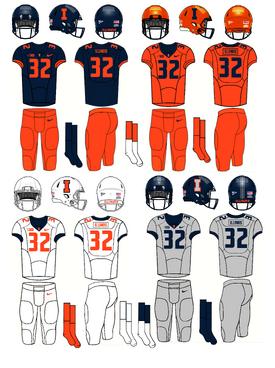 NCAA-Big 10-Illinois Fighting Illini football jerseys