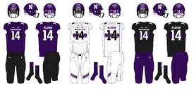 NCAA-Big 10-Northwestern Wildcats Uniforms
