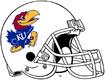 NCAA-Big 12-Kansas Jayhawks Mascot Logo White helmet