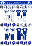NCAA-BYU-Cougars Royal Blue Jerseys