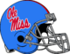NCAA-SEC-Ole Miss Rebels Light Blue Alt Helmet