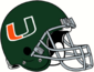 NCAA-ACC-Miami Hurricanes 1972-75 Green helmet
