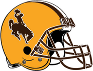 NCAA-MW-Wyoming Cowboys Gold Helmet